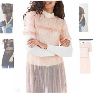 TopShop Sheer Pink Tulle Dress/Tunic NEW 8